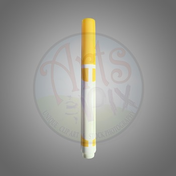 "! ""Back to School"" Clipart Stock Photo of a Yellow MARKER"
