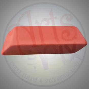 """""""Back to School"""" Clipart Stock Photo of an ERASER"""