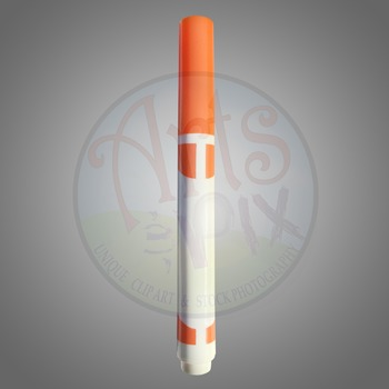 """Back to School"" Clipart Stock Photo of an Orange MARKER"