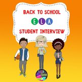 Back to School Student Interest Inventory for Middle and High School -ELA