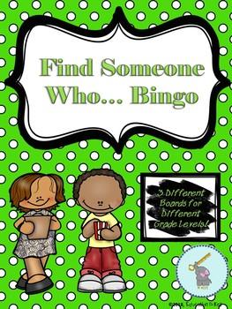*Back to School* Find Someone Who... Bingo