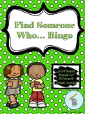*Back to School* Find Someone Who... Bingo