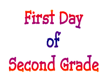 Back to School First Day of Grade and Last Day of Grade Printable Posters Set 2