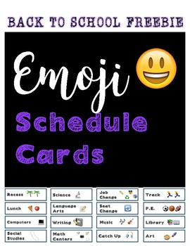 *Back to School* Emoji Schedule Cards