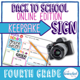 """""""Back to School Online Edition"""" First Day of School Sign,"""