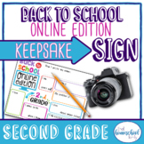 """First Day of School Sign, """"Back to School Online Edition,"""""""