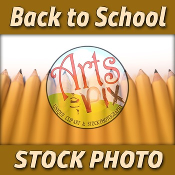 """""""Back to School"""" Photograph - Title Background Stock Photo of Pencils - 3"""