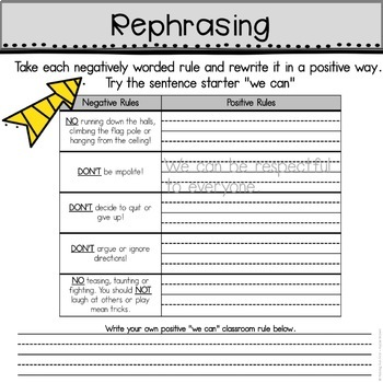 """""""Back to School Rules"""" Book Companion Activities"""