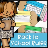 Back to School Rules Activities | Digital and Print | Dist