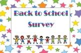 * Back to School Survey *