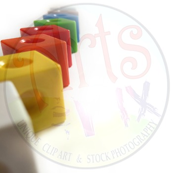 """Back to School"" - Text BKG - Stock Photo - Math Manipulative Connecting Cubes"