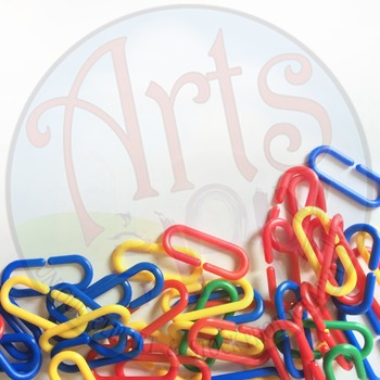 """Back to School"" - Text BKG - Stock Photo of Math Manipulative Chain Links"