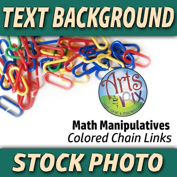 """""""Back to School"""" - Text BKG - Stock Photo of Math Manipulative Chain Links #3"""