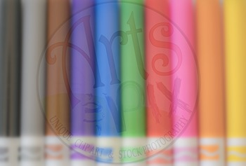 """Back to School"" - Title Blurred Background Stock Photo of Markers 2"
