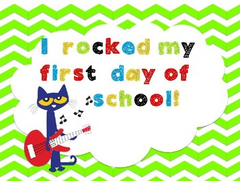 """Back to school"" Photo Props- Pete the Cat"