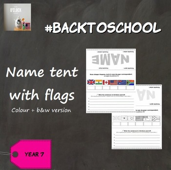 #BackToSchool : Name Tents (with flags)