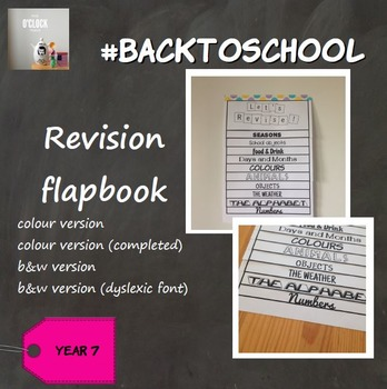 #BackToSchool : Revision flapbook