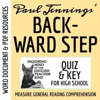 """Backward Step"" by Paul Jennings - Quiz & Key"