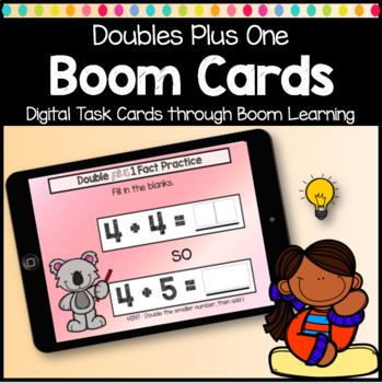 Boom Cards Doubles Plus One Digital Learning Game