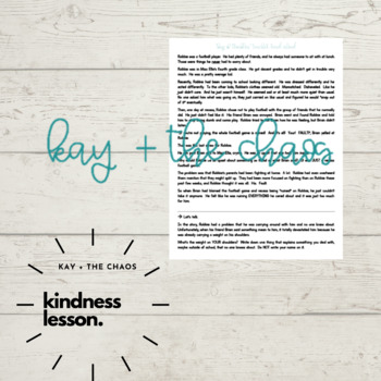 """""""Bag of Troubles"""" Kindness Activity/Lesson"""