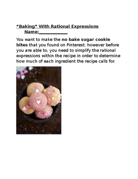 """""""Baking"""" with Rational Expressions"""