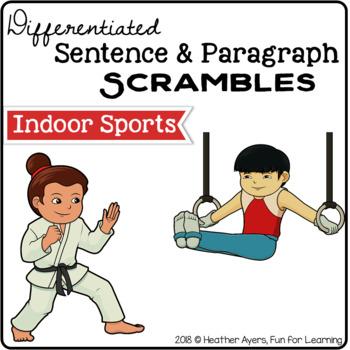 {Indoor Sports} Sentence & Paragraph Scrambles