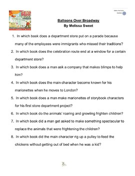 """""""Balloons Over Broadway"""" by Melissa Sweet, Battle of the Books Questions"""