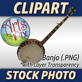 """Banjo"" Clipart Stock Photo of a Bluegrass Banjo"