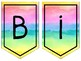 {Bannière de bienvenue arc-en-ciel} Printable rainbow French Welcome banner