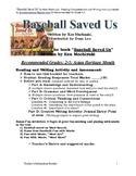 """Baseball Saved Us"" reading comprehension and writing activity"