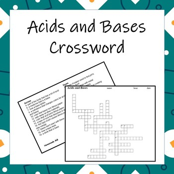 """Basic"" Acids and Bases Crossword"