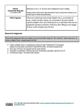 """Basic Proficiency"" Unique Global Studies 10 Modified Curriculum Outline"