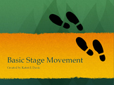 """Basic Stage Movement"" Slide Presentation for Drama and Th"
