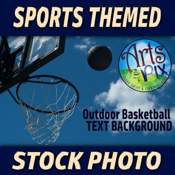 """Basketball hoop and Basketball"" - Stock Photo - Sports - Photograph"