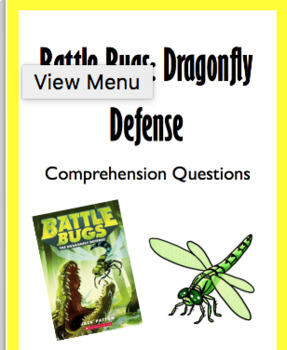 """""""Battle Bugs: Dragonfly Defense"""" Chapter Questions"""