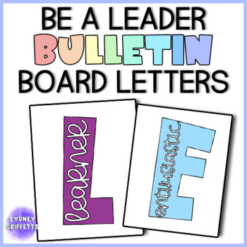 """Be A Leader"" Bulletin Board Letters"