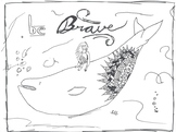 'Be Brave' Coloring Page