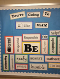 """""""Be"""" Character Traits Back to School Bulletin Board"""