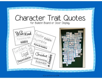 """""""Be"""" Door or Bulletin Board, Back to School, Character Education"""