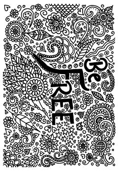 'Be Free' Coloring sheet