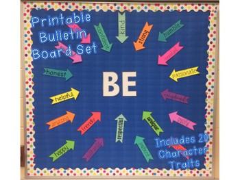 be inspirational bulletin board set character traits bulletin board
