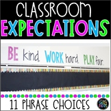 Classroom Quote   Be Kind, Work Hard, Play Fair   Classroom Expectations Display