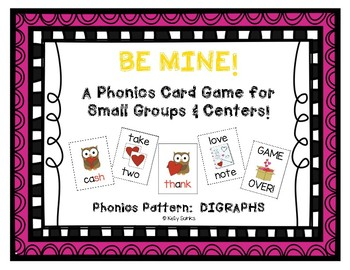 """Be Mine!"" ~ A Valentine's Day-Themed DIGRAPHS Phonics Game"