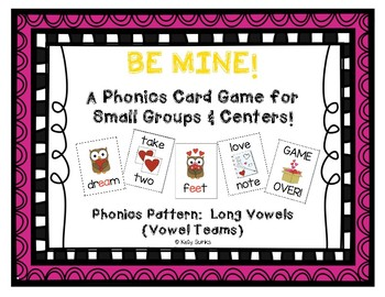 """""""Be Mine!"""" ~ A Valentine's Day-Themed 'VOWEL TEAM' Phonics Game long vowel pairs"""