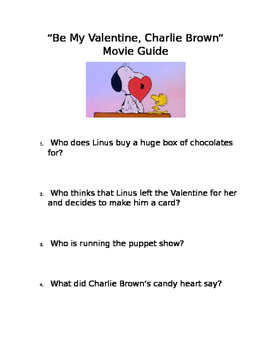"""Be My Valentine, Charlie Brown"" Movie Questions"