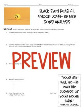 """""""Be Nice"""" by Black Eyed Peas ft. Snoop Dog (Song Analysis Opener)"""