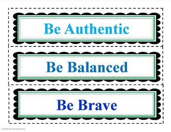 """Be"" Positive Character Traits"