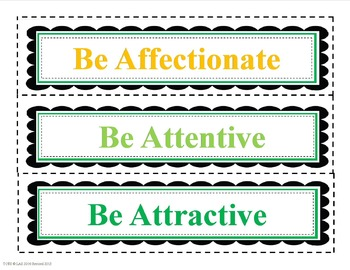 """""""Be"""" Positive Character Traits"""