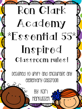 Ron Clark Academy Essential 55 inspired *Be Significant* rules 2