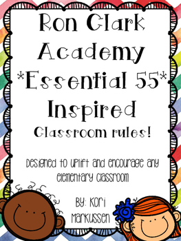 Ron Clark Academy Essential 55 inspired *Be Significant* rules 3